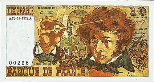 Fameux compositeur de son époque, cet homme est représenté sur certains billets de 10 francs. Comment s'appelle-t-il ?