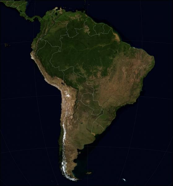 Lequel de ces pays d'Amérique du Sud n'est pas bordé d'un océan ?
