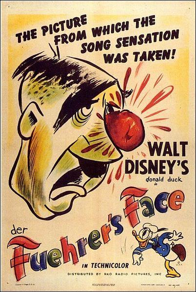 Dans quelle décennie est sorti ce dessin animé de propagande anti-nazie ?