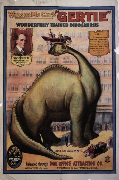Ce dinosaure est le premier de son espèce à figurer dans un dessin animé, comment s'appelle-t-il ?