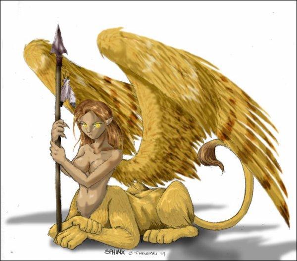 Tout le monde sait qu'Oedipe a vaincu le Sphinx. Pour prouver que vous êtes dignes de lui, voici une énigme :  Le mot sphinx est devenu un nom commun. Que signifie-t-il ?