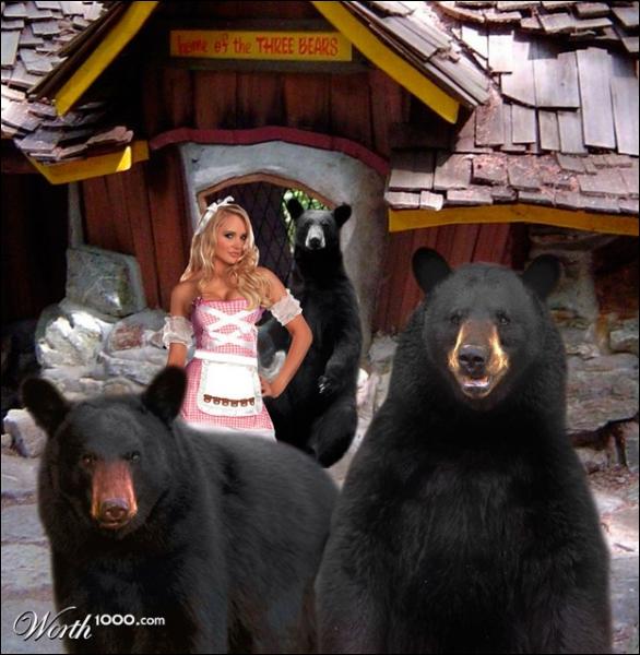 Dans un conte, une petite fille se réfugie dans la maison de trois ours !