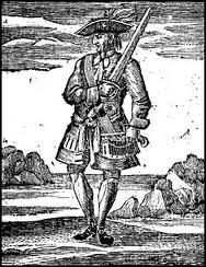 Ce féroce pirate écumait les mers à bord du  Revenge . Son pavillon était composé d'un crâne et de 2 sabres entrecroisés . Il avait à son bord 2 femmes pirates. Il s'agit de :