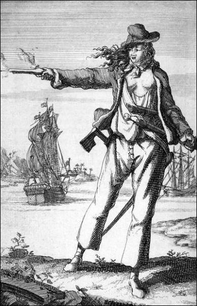 Anne Bonny était l'une des rares femmes pirates. Née en Irlande en 1702, elle se déguisait en homme pour pouvoir naviguer et écumer les mers des Caraïbes en compagnie d'un pirate très connu :
