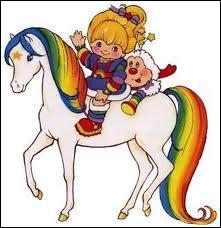 Dans quel dessin animé Blondine, aidée par son cheval Tagada, a-t-elle décidé d'apporter le bonheur sur Terre ?