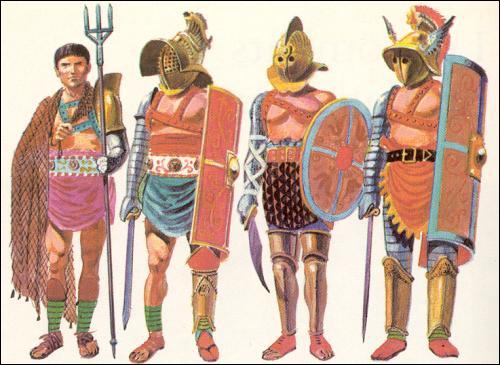 Les gladiateurs n'étaient pas tous équipés de la même manière. De quoi était muni le ''rétiaire'' ?