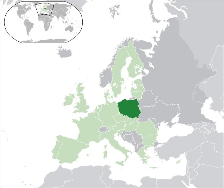 Quel pays aperçois t-on en vert fonçé ?