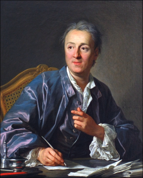 Philosophe et critique d'art français du Siècle des lumières connu pour son roman  Jacques le fataliste et son maître  et avoir contribué à  l'Encyclopédie . Il s'agit de :