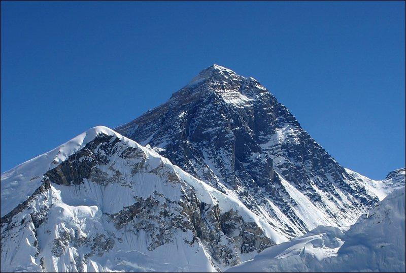 C'est la plus haute montagne qui existe sur Terre, il s'agit du mont :