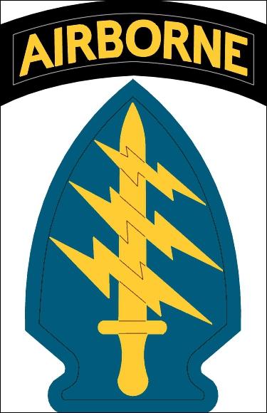 Cet insigne d'épaule représente les forces spéciales :