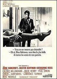 Film américain réalisé en 1967 par Mike Nichols avec Dustin Hoffman, Katharine Ross, Anne Bancroft :