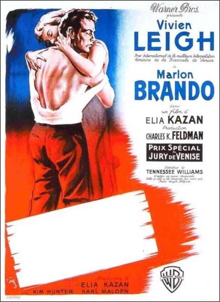 Film américain réalisé par Elia Kazan de 1951 avec Vivian Leigh et Marlon Brandon :