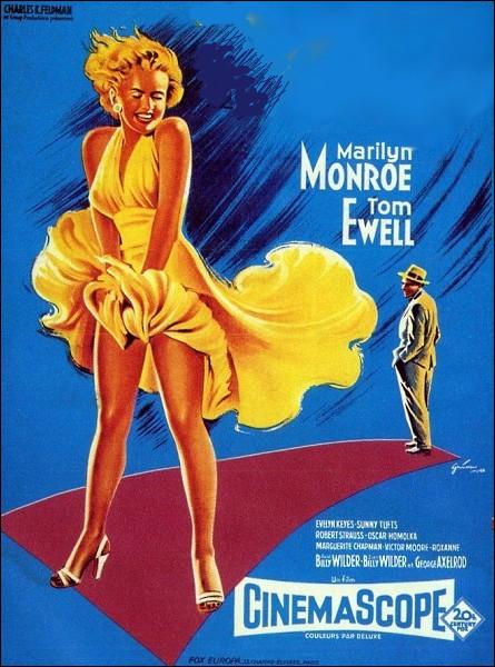 Film américain de 1955 réalisé par Bill Wilder avec Marilyn Monroe et Tom Ewell :