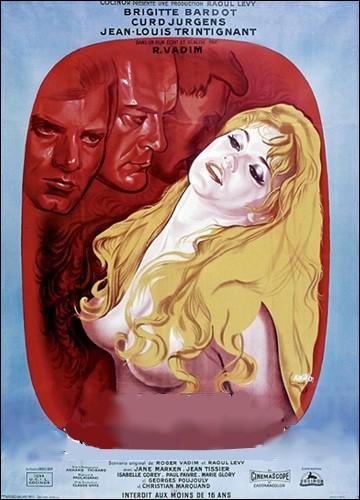 Comédie dramatique française de 1956 réalisée par Roger Vadim avec Brigitte Bardot et Jean-Louis Trintignant :
