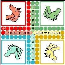 Au Jeu de petits-chevaux, combien de points faut-il réaliser avec les dés pour pouvoir poser son cheval sur la case-départ ?