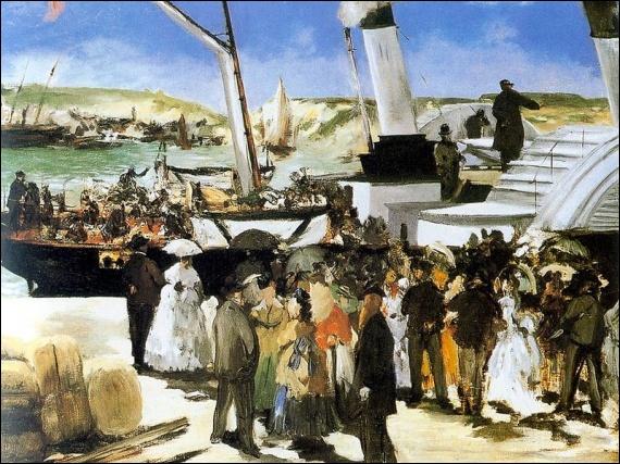 Quel peintre à qui l'on doit l'oeuvre  Olympia  a peint  Le départ du Vapeur Folkeston  ?
