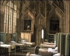 Que garde Hermione sous son oreiller lors de son premier séjour à l'infirmerie ?