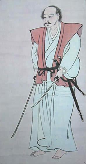Samurai devenu célèbre grâce à son excellence dans le maniement de l'épée et ses nombreux duels.  Le livre des cinq anneaux  est un livre de stratégie militaire qu'il a écrit. Il s'agit de :
