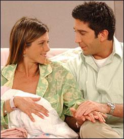 A chaque fois qu'il apprend qu'il va être papa, comment réagit Ross ?