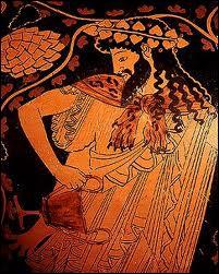 Fils de Zeus et de Sémélé, je suis l'un des dieux les plus complexes de la Grèce. Mon père me cache dans sa cuisse jusqu'à ma naissance. J'ai introduit la culture de la vigne. Je suis :
