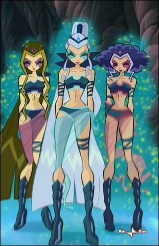 Les Trix s'appellent Icy, Darcy et Mirta :