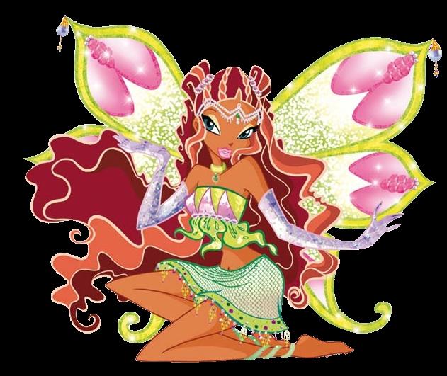 Layla est la première des Winx à avoir eu son Enchantix :