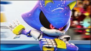 Je suis un robot qui ressemble à Sonic.