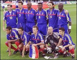 C'est une photo de la finale d'une grande compétition internationale. Il s'agit des Bleus de l'équipe de France...