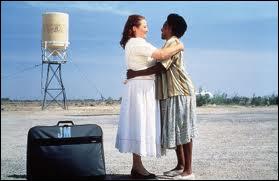 Le réservoir d'eau en arrière-plan est facilement identifiable. Quel film se déroule le long de la Route 66 dans une zone désertique près de Las Vegas ?