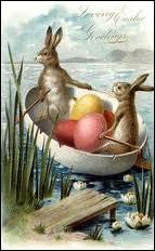 Une jolie tradition d'oeufs, d'agneau, de canetons, de fleurs et de petits lapins, pour la fête de ?