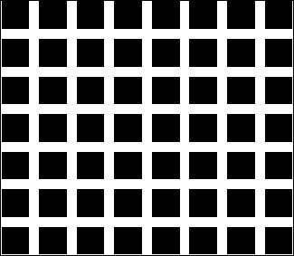 Regardez cette grille, combien de points pouvez-vous compter exactement ?