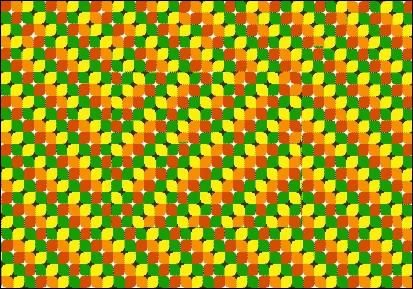 Regardez bien cet effet d'optique, quelle forme géométrique se distingue au milieu de ce dernier ?