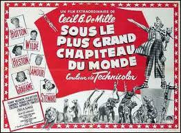 Quels sont les numéros qui font le nœud de l'histoire dans le film ''Sous le plus grand chapiteau du monde'' (1952) ?