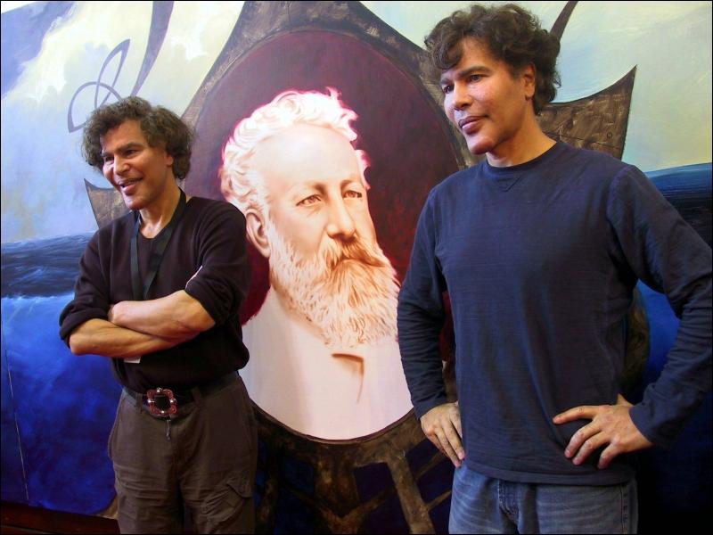 Les animateurs Igor et Grishka Bogdanoff...