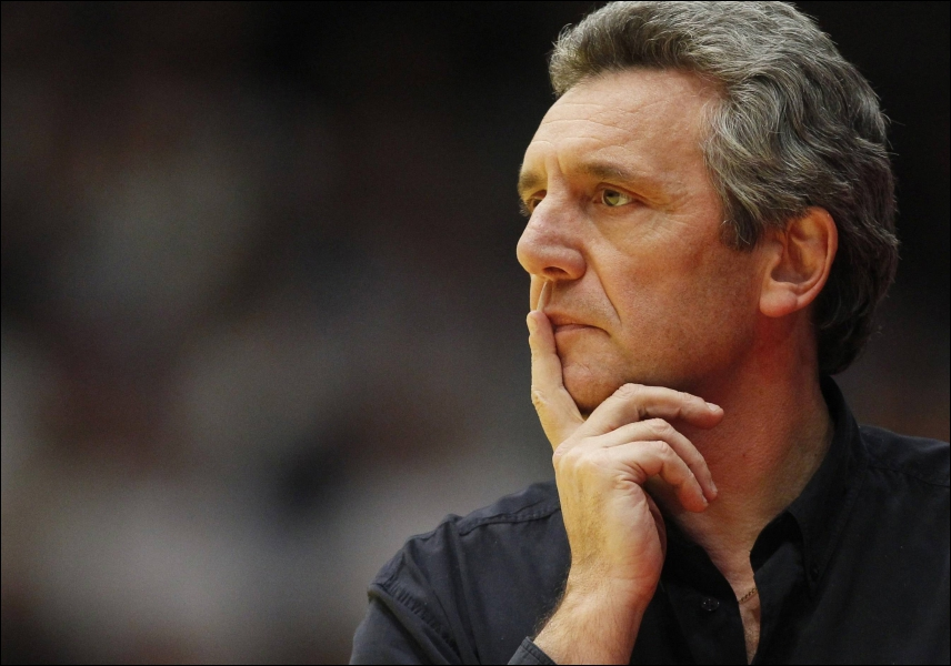 L'entraîneur de l'équipe de France de handball Claude Onesta...