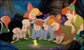 Comment appelle-t-on le groupe d'enfants que Peter Pan protège ?