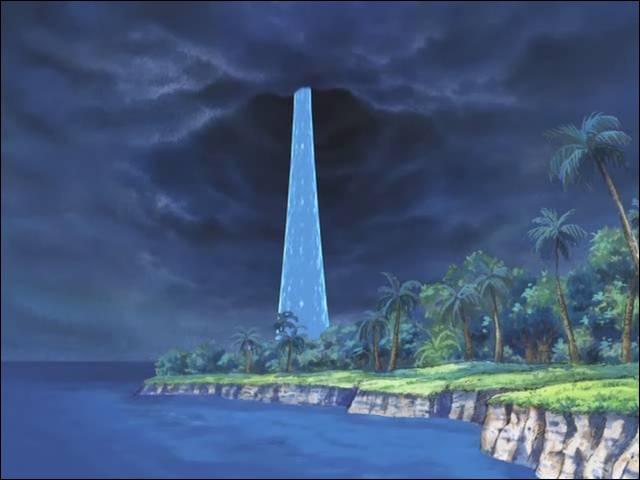 Comment se nomme l'énorme geyser permettant d'aller vers la mer blanche ?