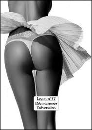 Quelle marque de sous-vêtements fit une campagne publicitaire, donneuse de leçons de séduction aux femmes ?