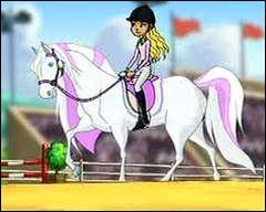 Qui est cette jolie fille qui monte un si beau cheval ?
