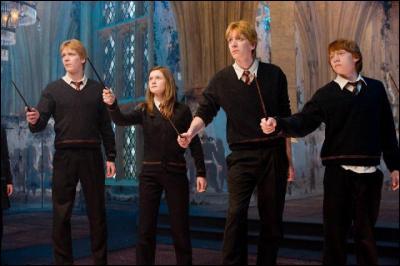 Sur qui les Weasley pointent-ils leurs baguettes ?