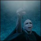 Sur qui Voldemort pointe-t-il sa baguette ?