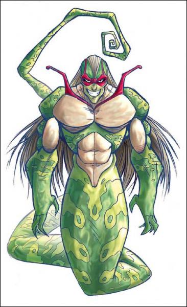Comment se nomme le serpent géant qui peut se transformer en humain et qui suit tout le temps le frère de la princesse ?