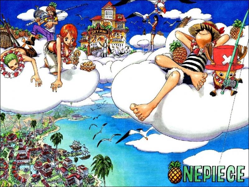 Qui a failli retomber vers la mer bleue en se jetant dans les nuages pour nager ?