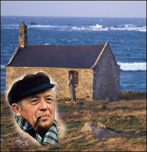 Journaliste, écrivain, poète et folkloriste né à Pouldreuzic en pays Bigouden , auteur du   Cheval d'orgueil   ... .