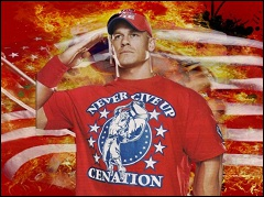 De quelle couleur est le t-shirt de John Cena (le 22/04/2012) ?