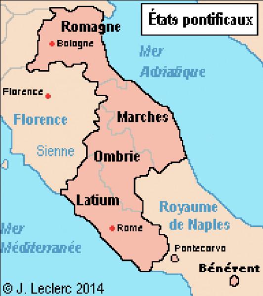 """En 754, en remerciement de la légitimation de son coup d'Etat, Pépin le Bref offre au Saint-Siège des territoires conquis aux Lombards. C'est la """"donation de Pépin"""" à l'origine de la création des Etats pontificaux. Quel traité officialise cette donation ?"""