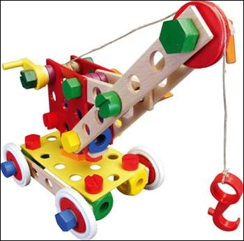 Marque de jouet allemand de type meccano, mais en bois.