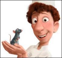 Comment s'appelle le rat cuisinier qui fait équipe avec Linguini ?
