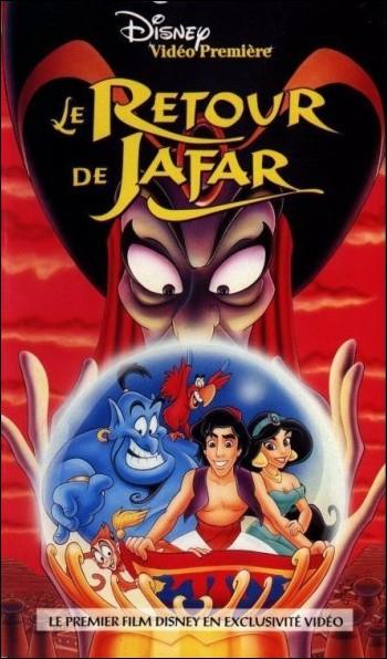 Dans  Le retour de Jafar , quel méchant personnage bascule du côté des gentils en sauvant la vie d'Aladdin ?