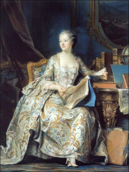 Il existe de nombreux portraits peints de Mme de Pompadour. Celui-ci, visible au Louvre, est dû à un peintre français né à Saint-Quentin. Quel est son nom ?
